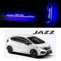 Honda New Jazz Door Foot LED Mirror Finish Black Glossy Scuff Sill Plate Guards (Set of 4Pcs.)