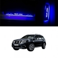 Car Door LED Light Scuff Sill Plate Guards for Nissan Terrano (Set of 4Pcs.)