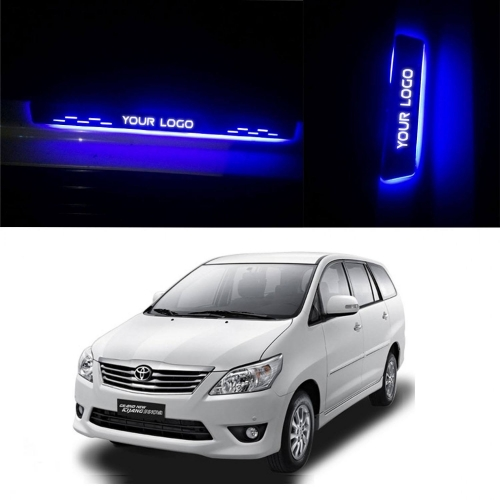 Car Door LED Light Scuff Sill Plate Guards for Toyota Innova (Set of 4Pcs.)