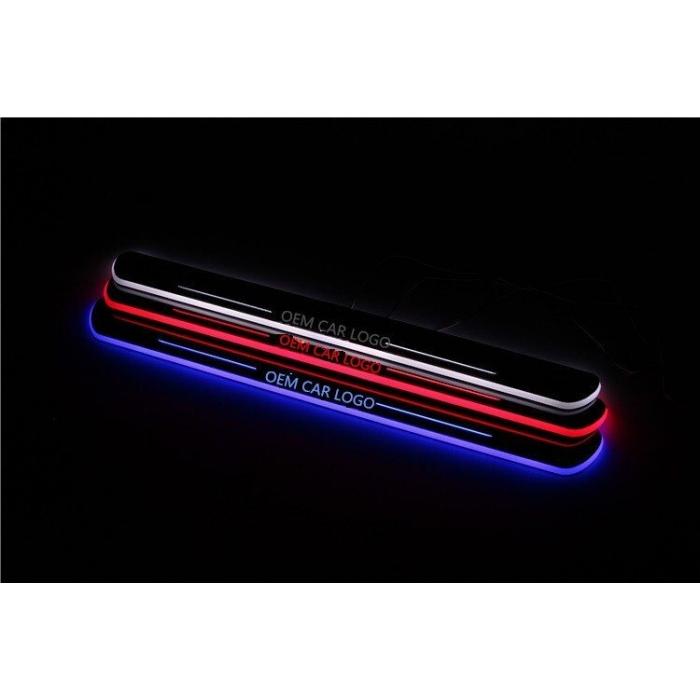 Mahindra Marazzo Door LED Light Scuff Sill Plate Guards Multi Color & Matrix Style (Set of 4Pcs.)
