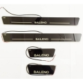 Car Door LED Matrix Moving Light Scuff Sill Plate Guards for Maruti Suzuki Baleno New (Set of 4Pcs.)