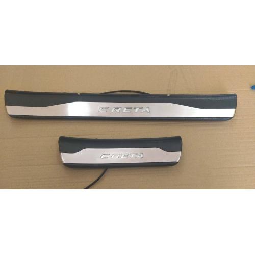 Hyundai Creta OEM Led Scuff Door Side Sill Plates (Set of 4 Pcs.)