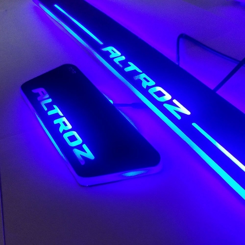 Matrix Moving  LED Light Scuff Sill Plate Guards for Tata Altroz (Set of 4Pcs.)