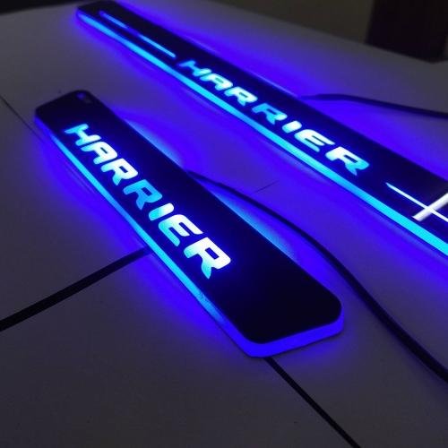 Car Door LED Light Scuff Sill Plate Guards for Tata Harrier Matrix Moving Light (Set of 4Pcs.)