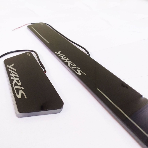 Car Door LED Light Scuff Sill Plate Guards for Toyota Yaris Matrix Moving Light (Set of 4Pcs.)