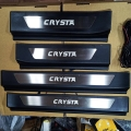 Toyota Innova Crysta LED Scuff Sill Plate Black Glossy with Blue Light (Set of 4Pcs,)