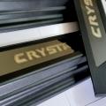 Toyota Innova Crysta Oem Type Scuff Sill Plate With Blue Light Black Glossy