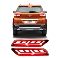 Bumper LED Reflector Lights Lamborghini Style For Hyundai New Creta 2018 (Set of 2Pcs.)