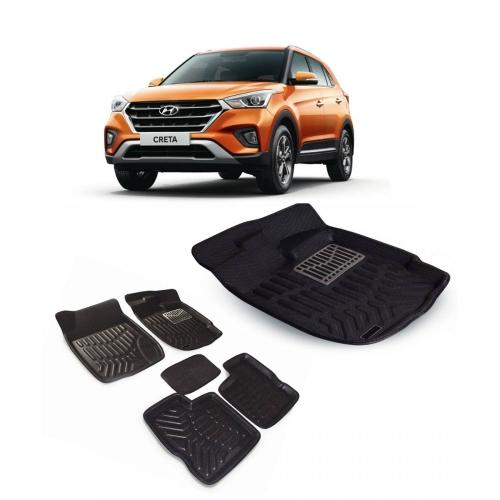 Premuim Quality 3D Car Floor For Hyundai New Creta 2018