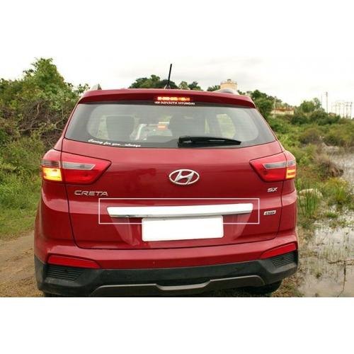 Hyundai Creta High Quality Imported Numer Plate Chrome Garnish Lip