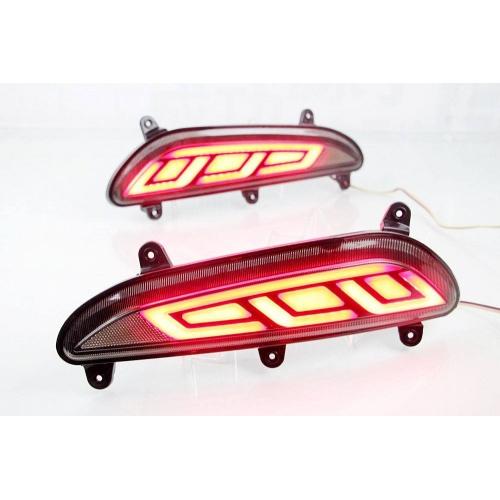 Bumper LED Reflector Lights For Hyundai i20 Elite Old - Tail Light Design (Set of 2Pcs.)