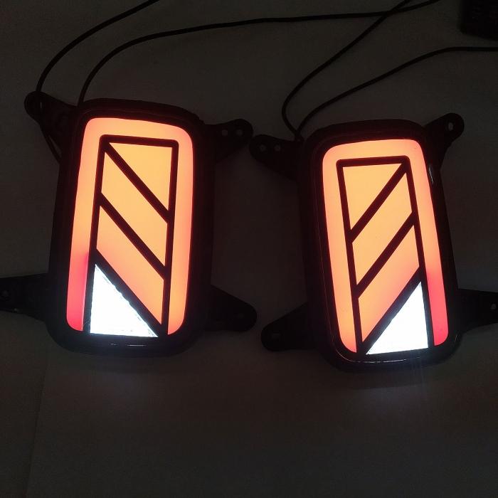Hyundai Venue Bumper LED Reflector Light Tail Light Design By Stylenn (Set of 2Pcs.)