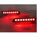 Maruti Suzuki S-Presso Bumper LED Reflector Lights Moving Matrix Arrow Style (Set of 2Pcs.)