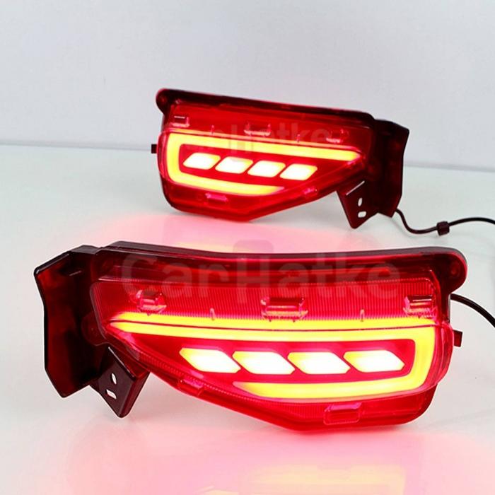 Toyota New Fortuner Facelift 2021 LED Bumper Reflector Lights (Set of 2Pcs.)