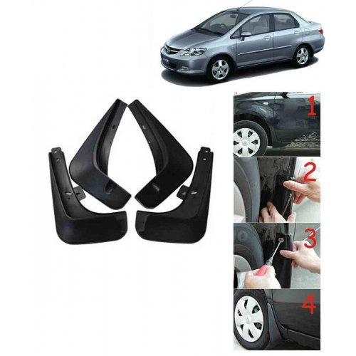Techo Best Quality O.E Type Mudflap For Honda City Zx Set Of 4