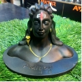 Matte Black Finish Shiva Adiyogi  Murti Statue Idol is Beautifully Suitable For All Car Dashboard, Home Decor Mandir, Office, Pooja, And For Entrance Decoration