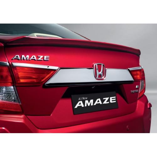 New Honda Amaze 2018 Boot Trunk Number Plate Chrome Garnish