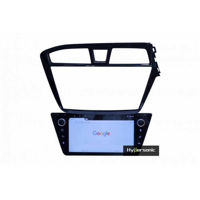 Hyundai i20 Elite 8 Inches HD Touch Screen Android Stereo (2GB, 16GB) with Stereo Frame By Hypersonic