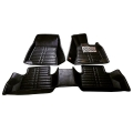 Toyota New Fortuner Premium 5D Car Floor Mats (Set of 4, Black and Beige)