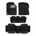 Autostorm Car 5D Floor Mats For Mahindra XUV 500 Full Velcro Set Of 4 Beige and Black