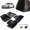 Audi A4 Premium 5D Car Floor Mats (Set of 3, Black & Beige)