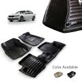 BMW 5 Series Premium 5D Car Floor Mats (Set of 3, Black & Beige)