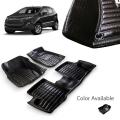 Ford Ecosport Premium 5D Car Floor Mats (Set of 3, Black)
