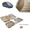 Honda Amaze Premium 5D Car Floor Mats (Set of 3, Beige)