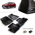 Hyundai i20 Active Premium 5D Car Floor Mats (Set of 3, Black & Beige)