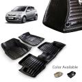 Hyundai i20 Old Premium 5D Car Floor Mats (Set of 3, Black & Beige)