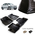 Hyundai Verna Fluidic Premium 5D Car Floor Mats (Set of 3, Black & Beige)