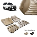 Mahindra Scorpio Premium 5D Car Floor Mats (Set of 4, Black & Beige)