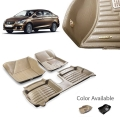 Maruti Ciaz Premium 5D Car Floor Mats (Set of 3, Black and Beige)
