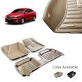 Skoda Rapid New Premium 5D Car Floor Mats (Set of 3, Black)