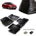 Hyundai New Verna 2018 Premium 5D Car Floor Mats (Set of 3, Black & Beige)