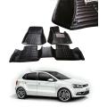 Volkswagen Polo Premium 5D Car Floor Mats (Set of 3, Black and Beige)