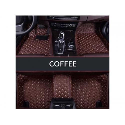 Kia Seltos Premium Diamond Pattern Luxury  7D Car Floor Mats (Set of 3, Coffee)