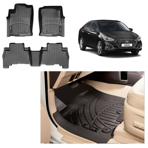 Custom Fit All Weather Tech Car Floor Liner Mats For Hyundai New Verna 2017