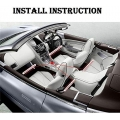 Car Interior Under Dashbord Atmosphere Multicolor Strip LED Light With Wireless Remote Control