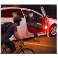 Car Open Door Warning Flash Wireless Alert Light Signal Red Set Of 4