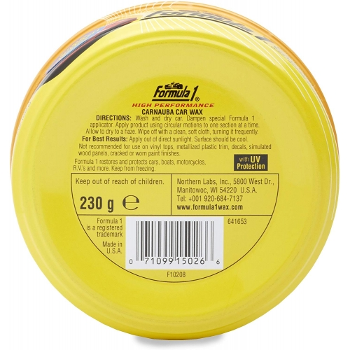 Formula 1 Carnauba Wax Paste Car Polish (230 g)