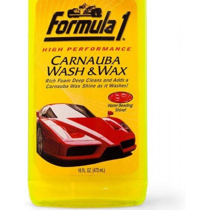Formula 1 Carnauba Wash & Wax Car Shampoo (473 ml)