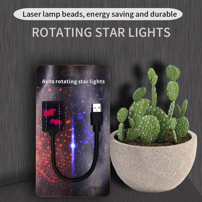 Carhatke Wireless USB Auto Rotating Star Light With Flicker, Sound Activated and Breathing Mode
