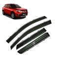 Car Window Door Visor With Chrome Lining For Maruti New Brezza 2020 Facelift Set of 4
