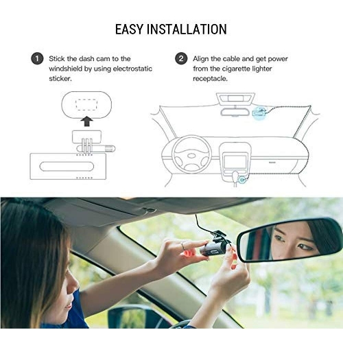 70mai Smart Dash Cam 1080P with Voice Control and APP Automatic Recording, Loop Recording with Wide Angle 130°