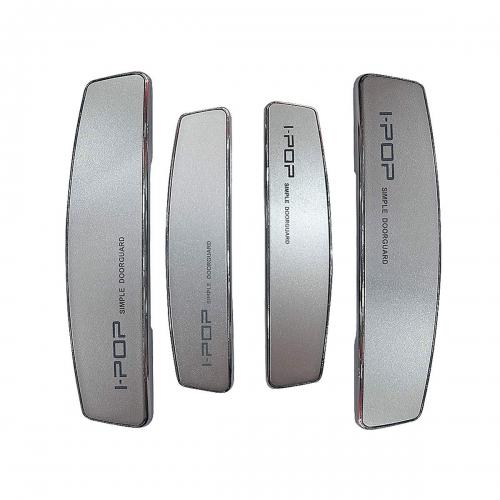 Carex I-POP Orignal Universal Car Door Guard Scratch Protector Black, Silver & White - (Set of 4)