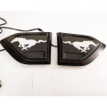 Ford New Endeavour Side Fender LED DRL Light Mustang Logo with Carbon Graphite Texture (Set of 2Pcs.)