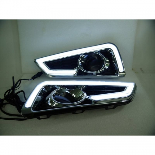Honda City Idtech 2014 Front LED DRL Day Time Running Lights with Turn Signal Indicator (Set of 2Pcs.)