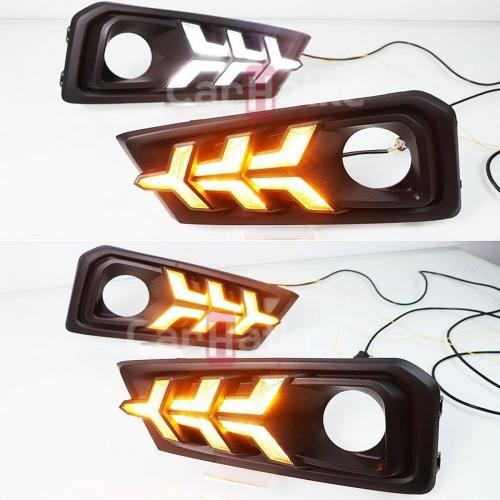 Honda New Amaze 2018 Front Day Time Running LED DRL Lights with Matrix Turn Signal (Set of 2Pcs.)