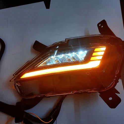 Hyundai New Generation Creta 2020 LED Fog Lamp With DRL Light  Moving Matrix Turn Signal (Set of 2Pcs.)